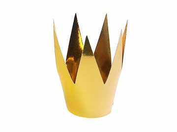 Party crowns, gold, 5.5cm (1 pkt / 3 pc.)