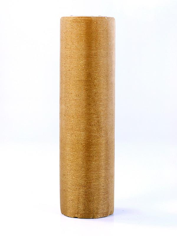 Organza zlatá s trblietkami 16cm