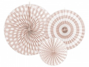 Decorative Rosettes, light peach (1 pkt / 3 pc.)