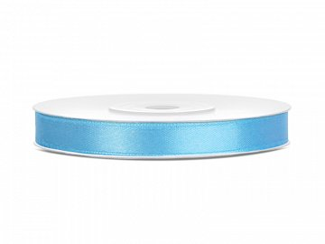 Satin Ribbon, sky-blue, 6mm/25m (1 pc. / 25 lm)