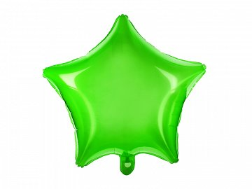 Foil Balloon Star, 48cm, green