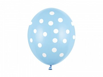 Balloons 30cm, Dots, Pastel Baby Blue (1 pkt / 50 pc.)