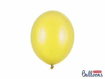 Balony Strong 27cm, Metallic Lemon Zest (1 op. / 10 szt.)
