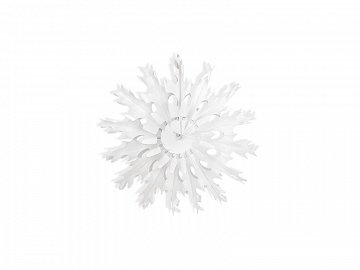 Decorative rosettes Snow flake, white, 25cm (1 ctn / 48 pc.)