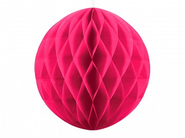 Honeycomb Ball, dark pink, 20cm