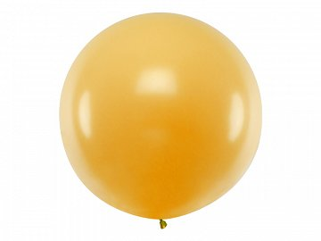 Balloon round 1m, Metallic Gold