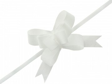 Pull bow, white, 3cm (1 pkt / 25 pc.)