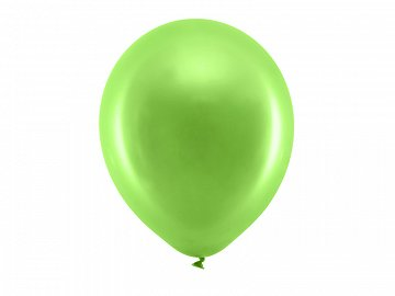 Rainbow Balloons 30cm metallic, light green (1 pkt / 100 pc.)
