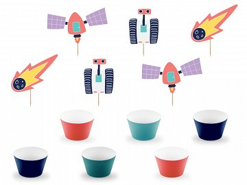 Cupcake kit Space (1 pkt / 6 pc.)