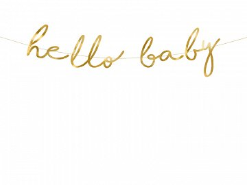 Banner Little Star - Hello Baby, gold, 18x70cm