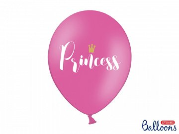 Balloons 30cm, Princess, Pastel Hot Pink (1 pkt / 6 pc.)