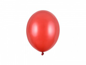 Strong Balloons 23cm, Metallic Poppy Red (1 pkt / 100 pc.)