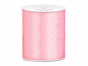 Satin Ribbon, light pink, 100mm/25m (1 pc. / 25 lm)