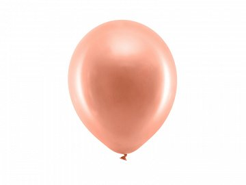 Rainbow Balloons 23cm metallic, rose gold (1 pkt / 100 pc.)