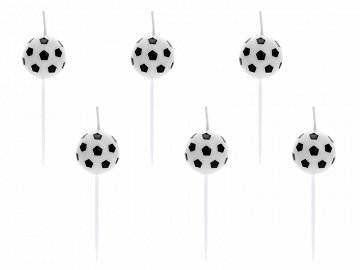 Birthday candles Soccer Balls, 2.5cm (1 pkt / 6 pc.)
