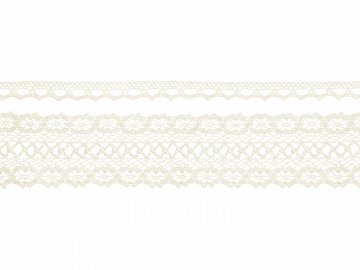 Laces, cream (1 ctn / 32 pkt) (1 pkt / 2 pc. / 3 lm)