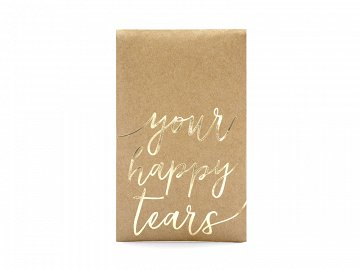 Pocket tissues Your happy tears, gold, 7.5x12cm (1 pkt / 10 pc.)