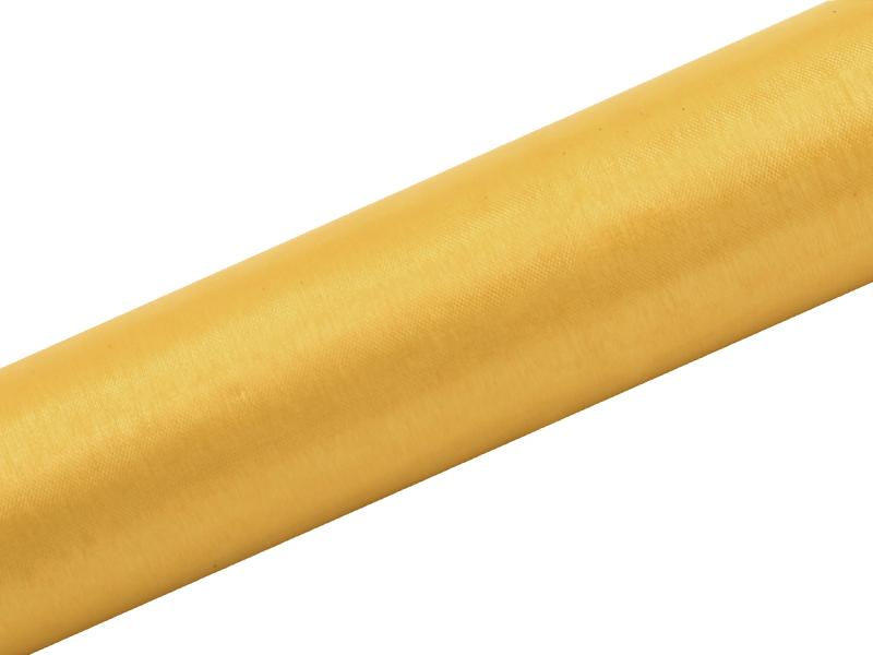 Organza zlatá 16cm 6ks