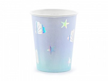 Paper cups Narwhal, mix, 220ml (1 pkt / 6 pc.)