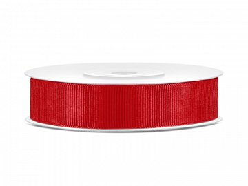 Grosgrain ribbon, red, 15mm/25m (1 pc. / 25 lm)