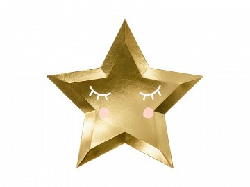 Plates Little Star - Star, golden, 27cm (1 pkt / 6 pc.)