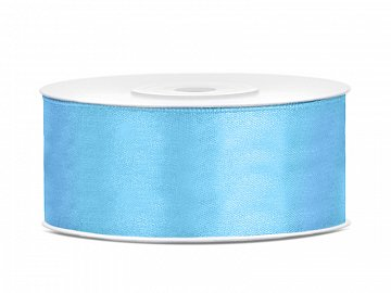 Satin Ribbon, sky-blue, 25mm/25m (1 pc. / 25 lm)