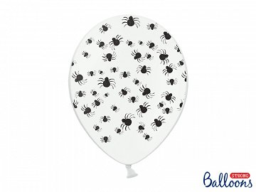 Balloons 30 cm, Spiders, Pastel Pure White (1 pkt / 50 pc.)
