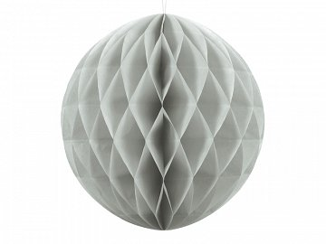 Honeycomb Ball, light grey, 20cm