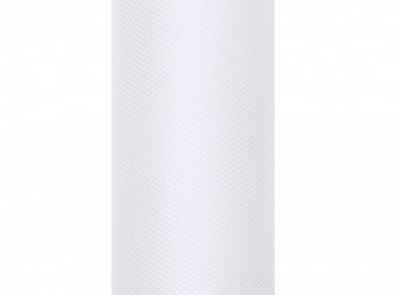 Tulle Plain, white, 0.5 x 9m (1 pc. / 9 lm)