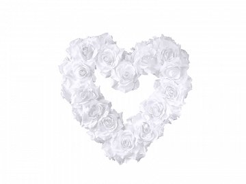 Empty flower heart, white, 40cm