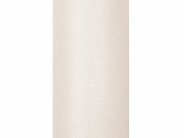 Tulle Glittery, cream, 0.15 x 9m (1 pc. / 9 lm)
