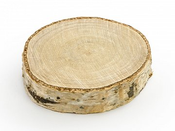 Wooden place cards, diameter 4.5-6.5cm (1 pkt / 6 pc.)