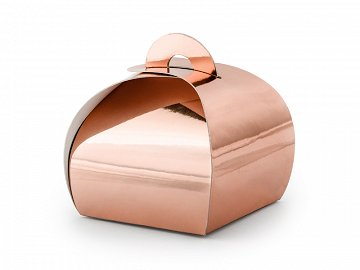 Boxes, rose gold, 6x6x5.5cm (1 pkt / 10 pc.)