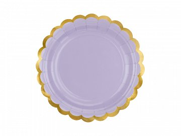 Plates, light lilac, 18cm  (1 pkt / 6 pc.)