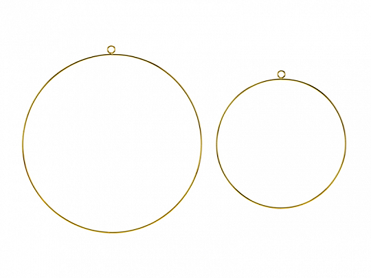 Metal hanging decorations Hoops, mix (1 pkt / 2 pc.)