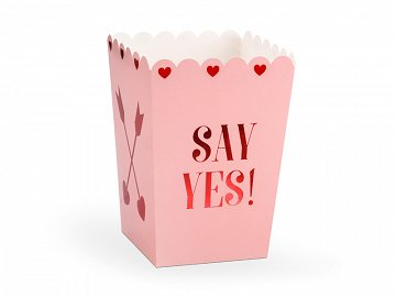 Boxes for popcorn Love is in the air, 8.5x8.5x12.5cm (1 ctn / 40 pkt) (1 pkt / 6 pc.)