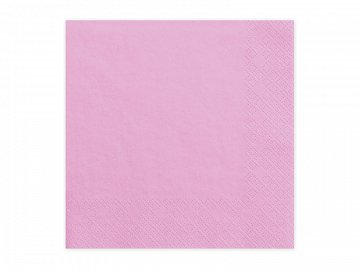 Napkins, 3 layers, pink, 33x33cm (1 pkt / 20 pc.)