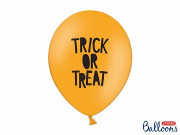 Balony 30 cm, Trick or Treat, Pastel Mandarin Orange (1 op. / 6 szt.)