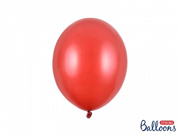Balony Strong 27cm, Metallic Poppy Red (1 op. / 10 szt.)