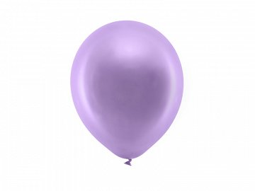 Rainbow Balloons 23cm metallic, violet (1 pkt / 100 pc.)