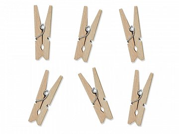 Wooden Pegs, natural wood (1 pkt / 10 pc.)