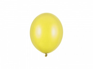 Strong Balloons 12cm, Metallic Lemon Zest (1 pkt / 100 pc.)