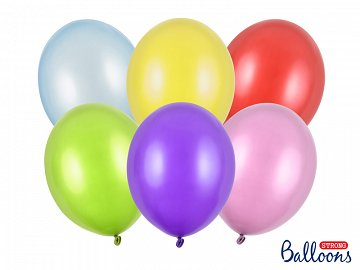 Balony Strong 30cm, Metallic Mix (1 op. / 50 szt.)