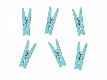 Wooden pegs, light sky-blue (1 pkt / 20 pc.)
