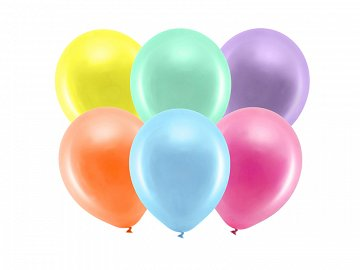 Rainbow Balloons 23cm metallic, mix (1 pkt / 100 pc.)