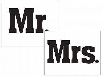 Shoe stickers Mr./Mrs. (1 ctn / 40 pkt) (1 pkt / 2 pc.)