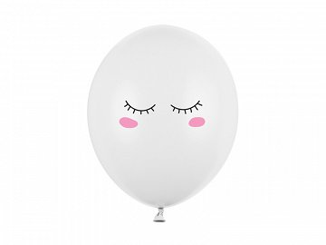 Balloons 30cm Smiley, Pastel Pure White (1 pkt / 50 pc.)