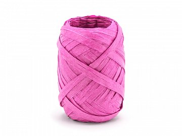 Raffia ribbon, 5mm/10m, dark pink (1 ctn / 80 pc.)