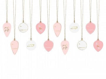 Gift tags Baubles, mix (1 pkt / 12 pc.)