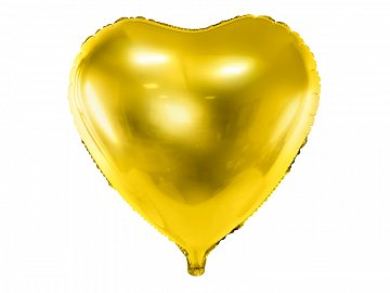 Foil Balloon Heart, 61cm, gold